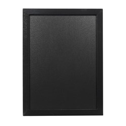 CHALK BOARD BLK 60X80CM W/-WHT CHALK MARKER&MOUNT KIT (6/12)
