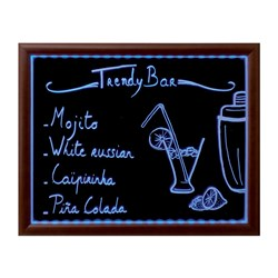 LED MED CHALK BOARD COL. W/- CHALK MARKER & REMOTE 56X70CM