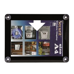 WINDOW POSTER FRAME UV RESIST A4 BLK DBL SIDED (24)