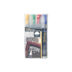 WATERPROOF MARKER 4/SET COLOURED (12/120)