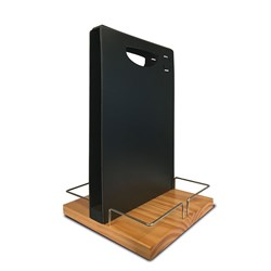 TABLE CADDY W/ BLK BOARD W/CHALK PEN & ELASTIC BAND (6)