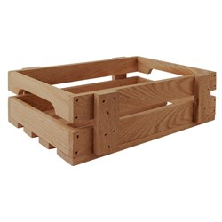 OLD FARMER MERCHANT BOX SML 300X200X90MM ASHWOOD