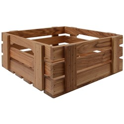 OLD FARMER MERCHANT BOX MED 300X300X135MM  ASHWOOD