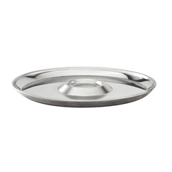 OYSTER PLATE 250MM S/S 18/8 12 SERVE (10)