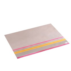 LINEN PLACEMAT GREY / ORANGE 400X300MM 250/PKT (4)