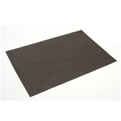 PLACEMAT WOVEN PVC BLK/BROWN 450X300MM (12/144)