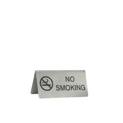 SIGN NO SMOKING S/S 18/10 100X43MM A FRAME (12)