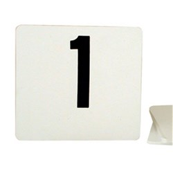 TABLE NUMBER SET 1-50 105X95MM FLAT BLK ON WHT PLASTIC
