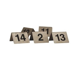 TABLE NUMBER SET S/S 11-20 BLK WRITING A FRAME