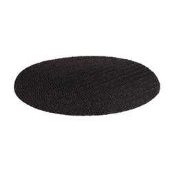 TRAY MAT ROUND MESH NON SLIP 260MM BLK FIT 300MM TRAY (12)