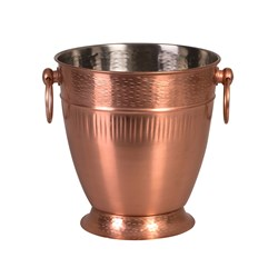 CHAMPAGNE BUCKET RIBBED COPPER FINISH (2/12)