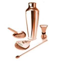 COCKTAIL KIT PROSHAKER 5 PCE COPPER FINISH