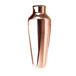 COCKTAIL SHAKER COPPER FINISH 600ML 2 PCE ERGONOMIC