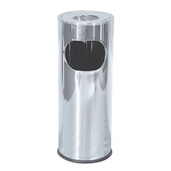 ASH LITTER BIN S/S W/- WASTE COMPARTMENT 600X250MM