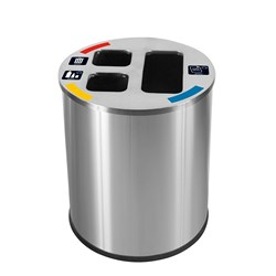 WASTE SEPARATION BIN 40LT SATIN S/S