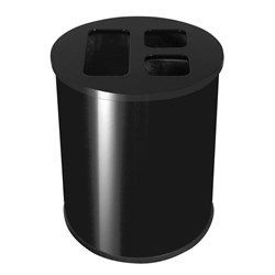 WASTE SEPARATION BIN 40LT BLK POWDERCOATED