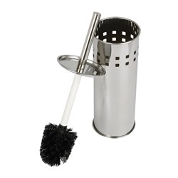 TOILET BRUSH & TIDY SET S/S TALL ENCLOSED CYLINDER