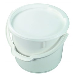 BUCKET 13LT H/DUTY WHITE P/ETHYL *NO LID*