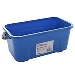 BUCKET 12LT RECT. BLUE 400X230X175MM PLASTIC (12)