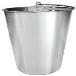 BUCKET 13LT H/DUTY S/S 18/10 (12)