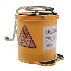 MOP BUCKET MOBILE YELLOW 15L PLASTIC (2)