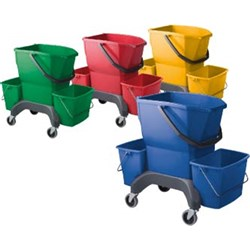 BUCKET 25LT GREEN EZY ERGO INC 2X7LT SIDE BUCKETS