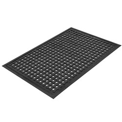 MAT COMFORT CLEAN 850X2700MM BLK HOLED