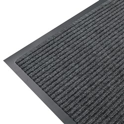 MAT RIBBED ENTRANCE PVC BACK GREY 900X600MM
