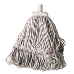 MOP HEAD 350GM HOSPITAL FLAT FERRULE WHITE COTTON