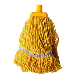 MOP HEAD 350GM HOSPITAL FLAT FERRULE YELLOW COTTON