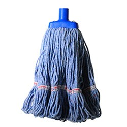 MOP HEAD 350GM HOSPITAL RND FERRULE BLUE COTTON