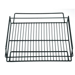 GLASS BASKET 355X355X75MM BLK PVC COATED (10)