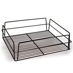GLASS BASKET 435X355X125MM BLK PVC COATED (10)