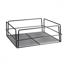 GLASS BASKET 355X355X125MM BLK PVC COATED HIGH SIDE(10)