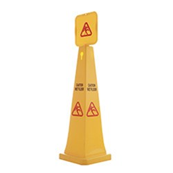 SAFETY CONE 915MM MED CAUTION FLOOR YELLOW PLASTIC