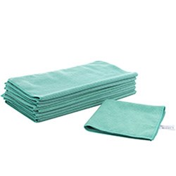 MICROFIBRE CLOTH GREEN 400X400MM (12)