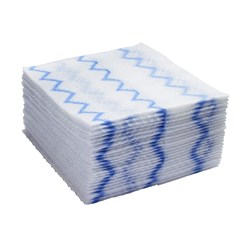 MICROFIBRE CLOTH DISPOSABLE WHT/BLU 640/CTN