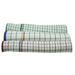 TEA TOWEL SUPER SOAKER GREEN COTTON 450X760MM DOZ