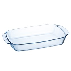 BAKING DISH ROASTER 3.3LT 350X240MM RECT CLR GLASS (6)