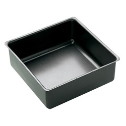 CAKE TIN SQUARE 250X80MM DEEP LOOSE BASE N/S (6)