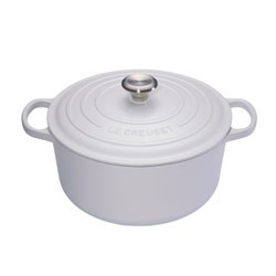 SIGNATURE RND CASSEROLE 280MM S/S KNOB COTTON CAST IRON