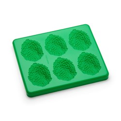 MOLD PUREED FOOD PEAS 6 SERVES SILICONE W/ LID GRN