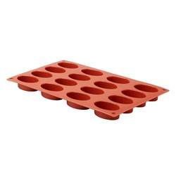 PRO.COOKER MOULD PETIT FOURS OVAL 16 CUP SILICONE GN 1/3
