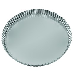 QUICHE TIN 120X25MM FLUTED LOOSE BASE TIN