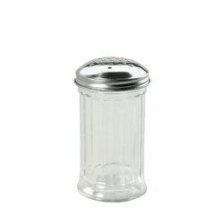CHEESE SHAKER 355ML GLASS PARMESAN S/S TOP