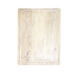 MANGOWOOD SERVING BOARD RECT 360X180X15MM WHT (6)