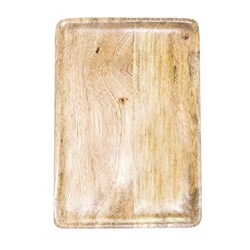 MANGOWOOD SERVING BOARD RECT 360X180X15MM NATURAL (6)