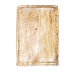 MANGOWOOD SERVING BOARD RECT 350X255X15MM NATURAL (6)