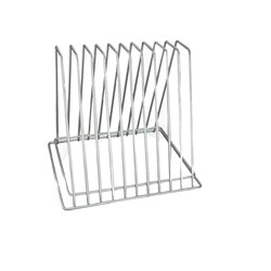 CUTTING BOARD RACK 10 SLOT CHROME (4)