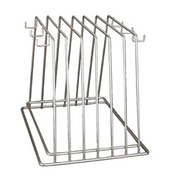 CUTTING BOARD RACK 6 SLOT CHROME (4)